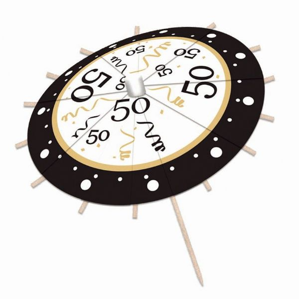 50th Birthday Drink Umbrellas Party Favor Favour